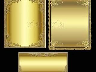 华丽金色边框psd分层素材