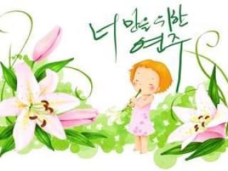 韩国儿童插画psd素材-28