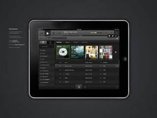 ipad音乐app界面PSD分层