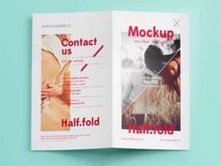 Psd Bi Fold Mockup模板Vol6