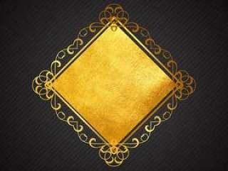 金色和黑色的背景