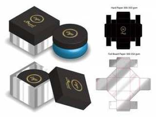 与dieline的坚硬委员会纸箱3d大模型
