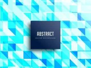 抽象的蓝色三角形图案背景