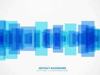 抽象的蓝色形状背景设计海报