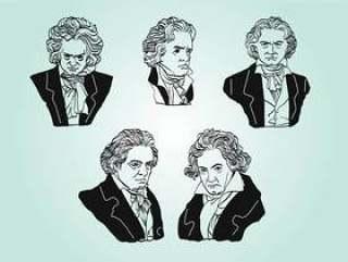 贝多芬矢量包