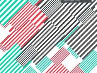 多彩抽象条纹背景现代设计