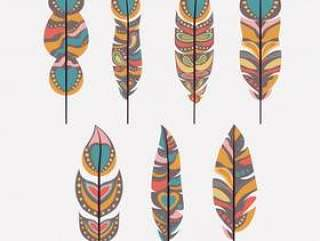 波西米亚风格孤立的图标设计