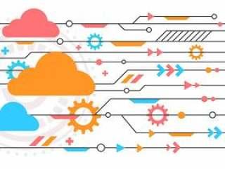 云技术概念向量