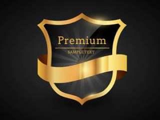 优质豪华金色标签设计插图