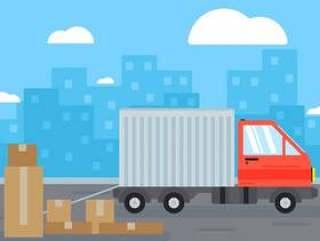 移动的卡车背景图