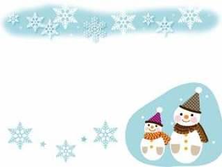 雪人和雪花水晶框架