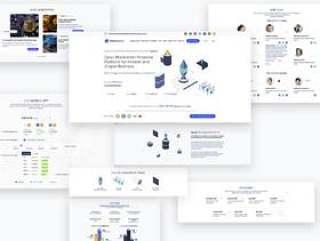 比特币加密货币和ICO登陆页面设计在Sketch。,AGECrypto ICO登陆页面