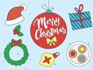 圣诞节矢量元素和图标