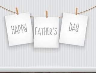 快乐的父亲'与垂悬的图片的天背景