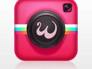 粉色相机图标PSD