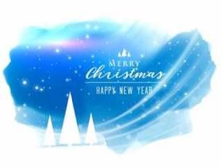 与光线影响的抽象圣诞快乐圣诞节背景