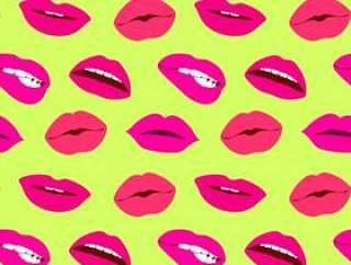女人嘴唇明亮矢量无缝模式