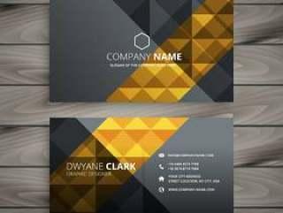 黑色金色名片设计模板矢量设计说明