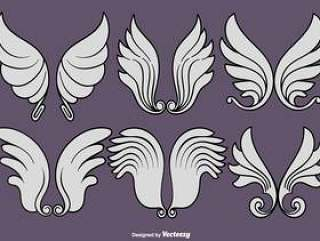 向量组的天使的翅膀图标
