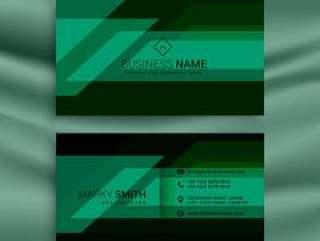 绿色和黑色的名片设计模板