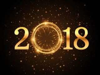 闪闪发光的金色闪光2018年背景