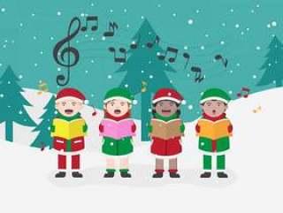 圣诞颂歌矢量图