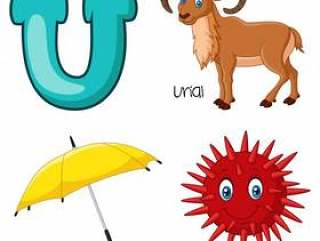 U字母表的例证