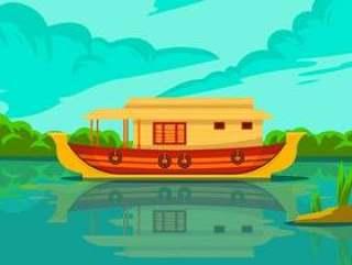 喀拉拉邦的居住船传染媒介背景例证