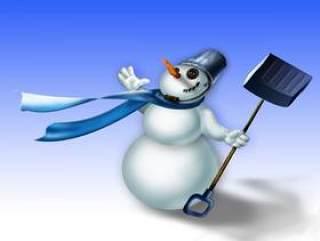 卡通圣诞雪人—psd分层素材