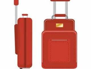 手提箱旅行孤立的图标矢量插图设计