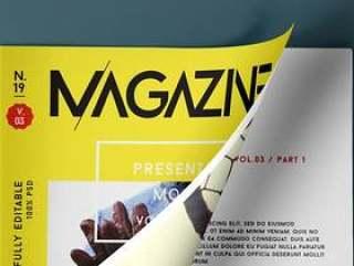 Psd Magazine Mockup View Vol3