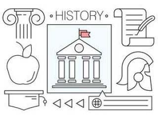 矢量图标关于历史