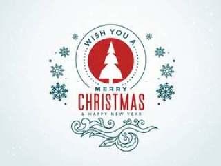 创意圣诞问候与装饰设计