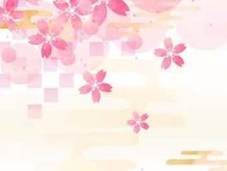 日本图案素材017樱桃背景