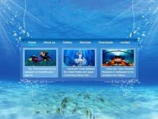 海底网站psd分层素材