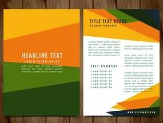 创意多彩宣传册传单设计插图
