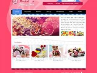 糖果网站—PSD分层素材