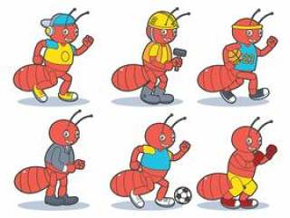 昆虫吉祥物矢量包