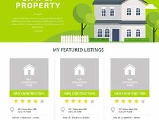 房地产列表模板矢量
