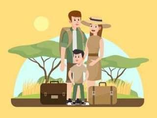 在非洲Sabana传染媒介的家庭度假