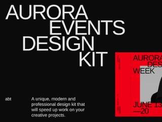 Sketch和Adobe Xd Ui Kit,Aurora Events设计套件