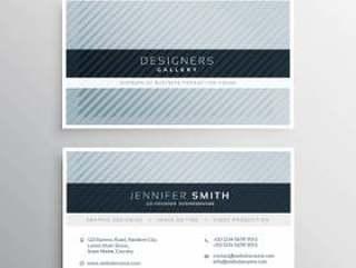 干净的蓝灰色名片设计模板