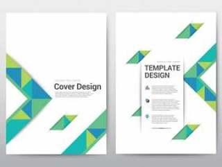 布局模板宣传册海报,传单,年度报告。
