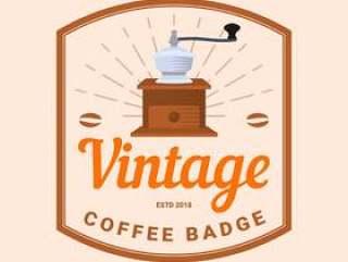 平复古咖啡徽章矢量