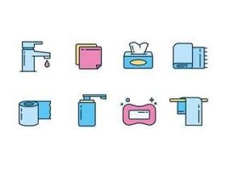 卫生和清洁图标矢量包