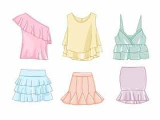 褶皱的衣服例证
