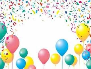 气球气球五彩纸屑背景框架框架装饰框架图片