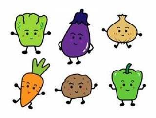 可爱的蔬菜插图集