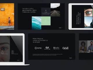 创意和多用途PPT演示模板,思想家 - 创意演示模板