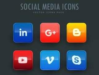 社会网络图标设置六在一包